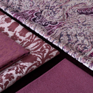 Burgundy red fabrics for home decoration | Tessuti rosso borgogna per arredamento