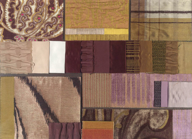 BROCHIER - Interior Design Fabrics - Design Inspiration 014 Giallo Grigio Viola