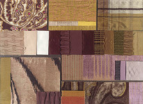 BROCHIER - Home decor textiles - Design Inspiration 014 Giallo Grigio Viola