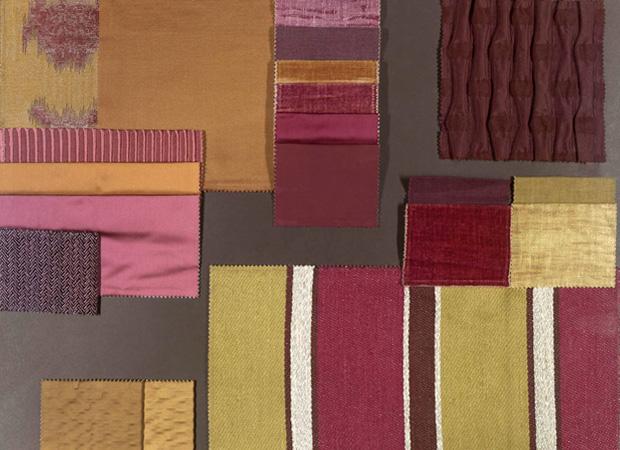 BROCHIER - Interior Design Fabrics - Design Inspiration 015 Oro Viola