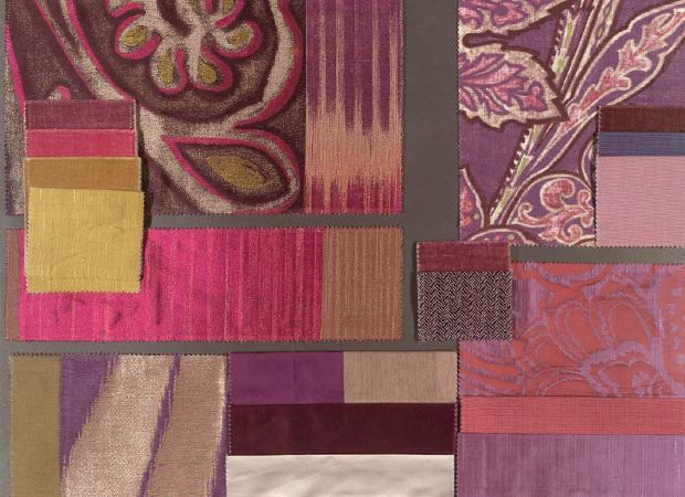 BROCHIER - Interior Design Fabrics - Design Inspiration 016 Viola Fuxia