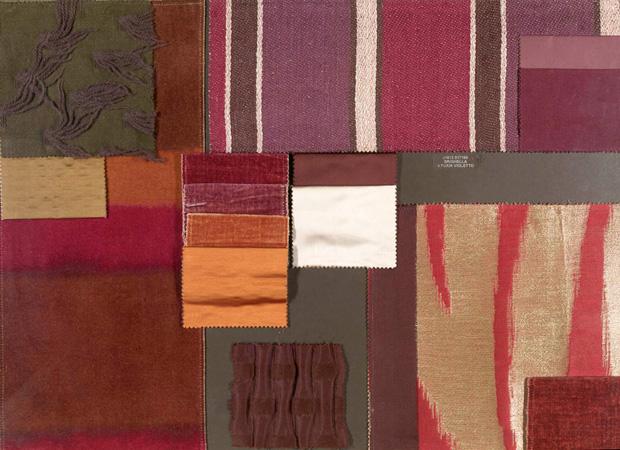 BROCHIER - Interior Design Fabrics - Design Inspiration 018 Viola Prugna