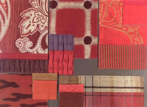 BROCHIER - Interior Design Fabrics - Design Inspiration 033 Rosso
