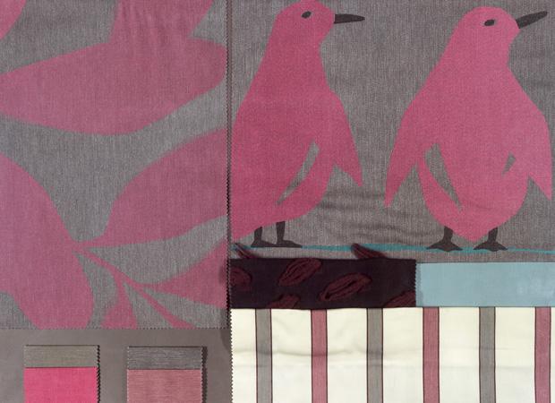 BROCHIER - Interior Design Fabrics - Design Inspiration 510 Fuxia Grigio