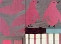 BROCHIER - Home decor textiles - Design Inspiration 510 Fuxia Grigio