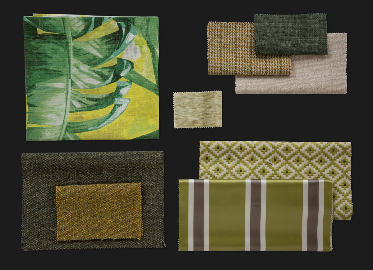 BROCHIER - Interior Design Fabrics - Design Inspiration 527 Lime