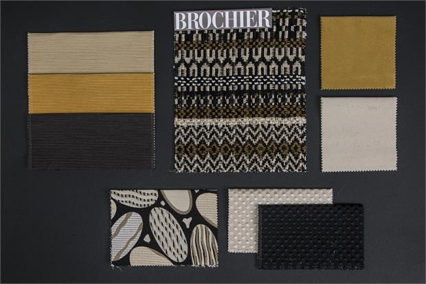BROCHIER - Interior Design Fabrics - Design Inspiration 535 Nero Giallo