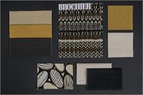 BROCHIER - Home decor textiles - Design Inspiration 535 Nero Giallo