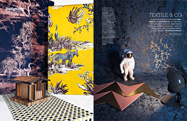BROCHIER Interior design Fabrics - Home decor textiles - In the media: INTERNI January/February 2017