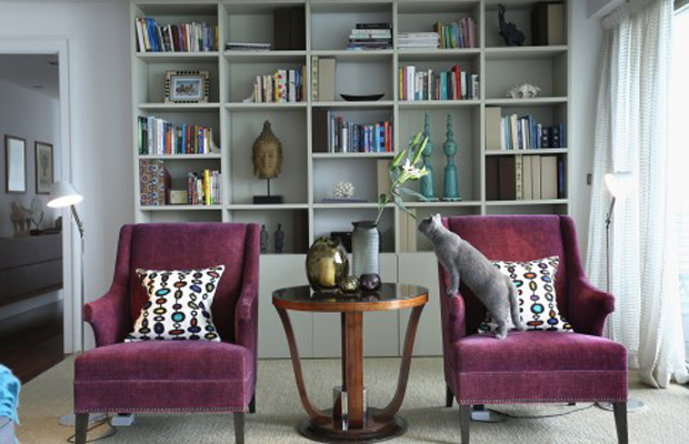BROCHIER Interior design Fabrics - Home decor textiles - Add burgundy accents to your fall home décor