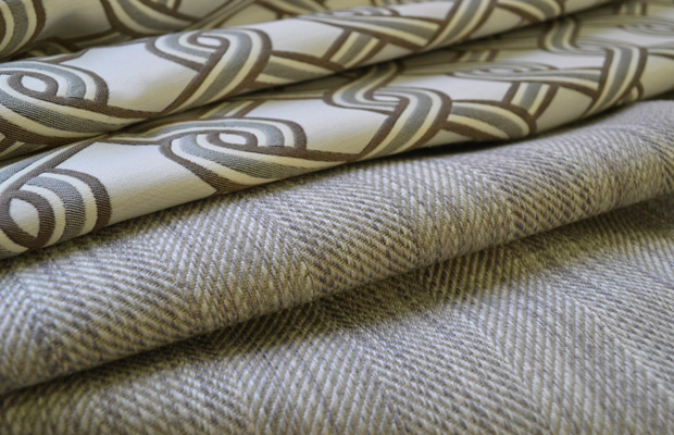 BROCHIER Interior design Fabrics - Home decor textiles - Color Scheme: brown and turquoise