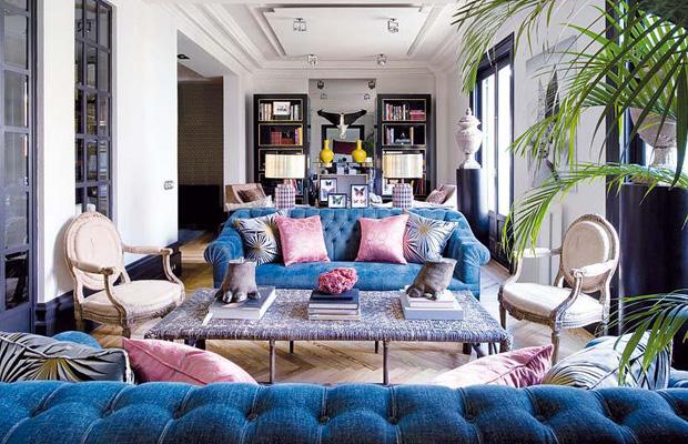 ... BROCHIER Interior Design Fabrics   Home Decor Textiles   A Sophisticated  Living Room ...