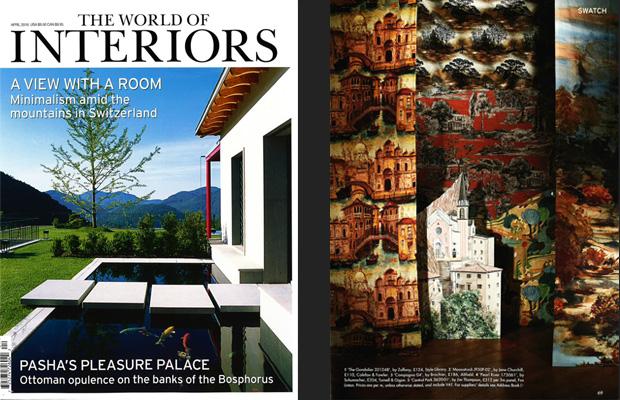 BROCHIER Interior design Fabrics - Home decor textiles - In the media: The World of Interiors April 2018