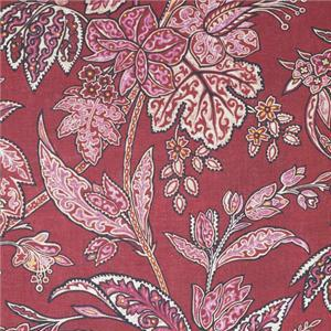 BROCHIER - Interior Design Fabric - Home Textile AK0751 CHINSAI 001 Granata