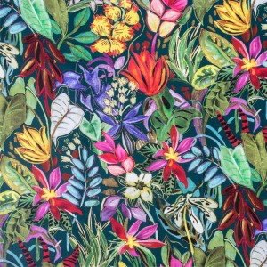 BROCHIER - Interior Design Fabric - Home Textile AK1373 TROPICALE 002 Turchese