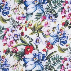 BROCHIER - Interior Design Fabric - Home Textile AK1376 PRIMAVERA 001 Verde/rosa