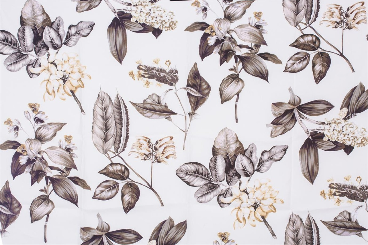 BROCHIER Home decor textile - Interior Design Fabric AK1403 BOTANICO 001 Terra