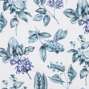 BROCHIER Home decor textile - Interior Design Fabric AK1403 BOTANICO 002 Verde acqua