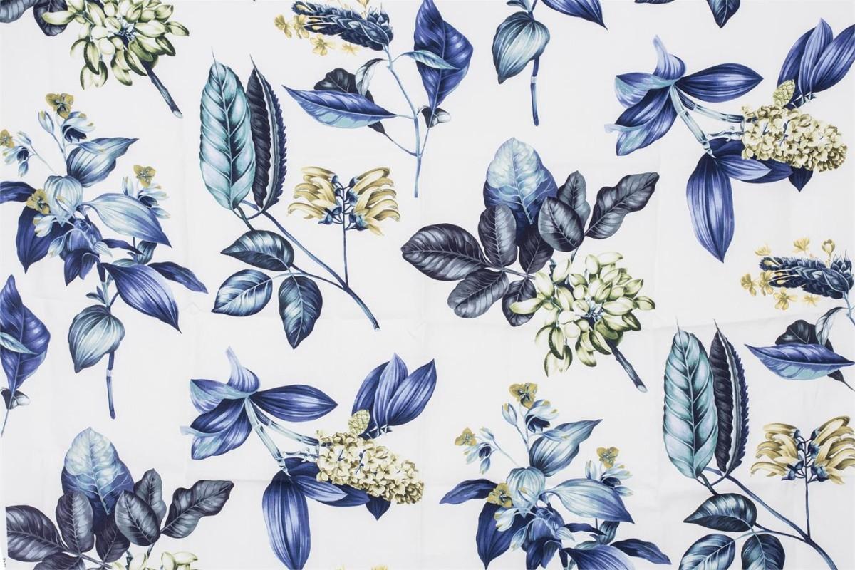 BROCHIER Home decor textile - Interior Design Fabric AK1403 BOTANICO 005 Oceano