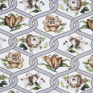 BROCHIER Home decor textile - Interior Design Fabric AK1424 TULIPANI 001 Sabbia