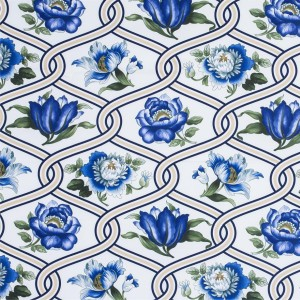 BROCHIER - Interior Design Fabric - Home Textile AK1424 TULIPANI 003 Oceano