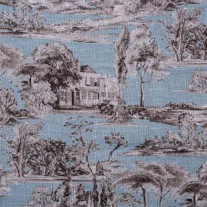 BROCHIER - Interior Design Fabric AK1428 CAMPAGNA 002 Turchese