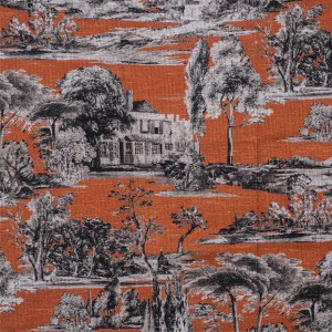 BROCHIER - Interior Design Fabric - Home Textile AK1428 CAMPAGNA 004 Mattone
