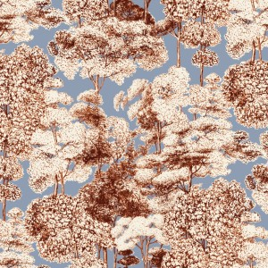 BROCHIER - Interior Design Fabric - Home Textile AK1510 FORESTA 003 Celeste