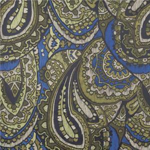 BROCHIER - Interior Design Fabric - Home Textile J1275 BISANZIO 002 Cobalto-muschi