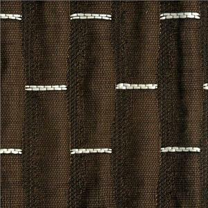 BROCHIER Home decor textile - Interior Design Fabric J2256 BRUCE 026 Ebano