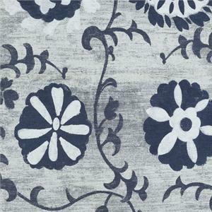 BROCHIER - Interior Design Fabric J2375 JANIS 001 Blu
