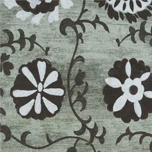 BROCHIER - Interior Design Fabric J2375 JANIS 002 Ebano