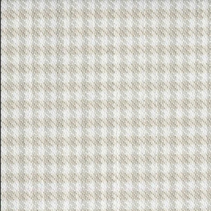BROCHIER Home decor textile - Interior Design Fabric J2838 PIED DE POULE 001 Bianco avorio