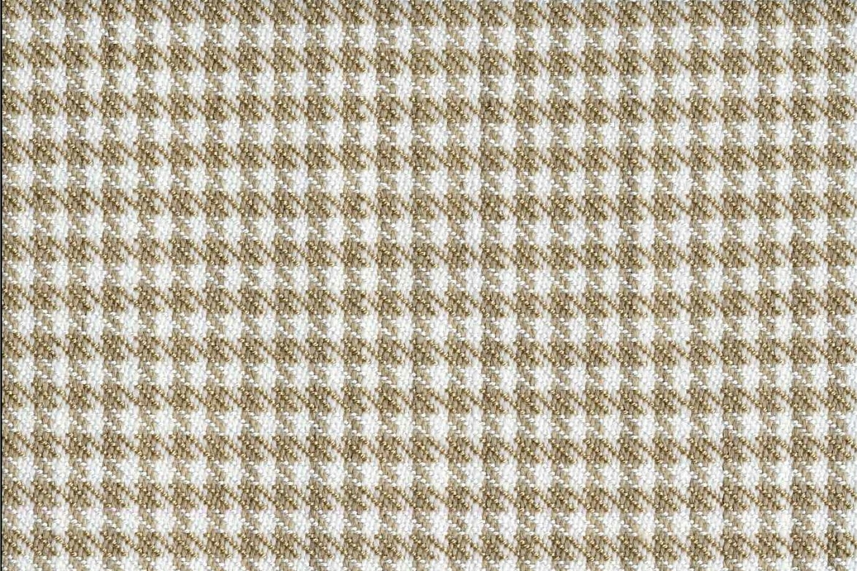 BROCHIER Home decor textile - Interior Design Fabric J2838 PIED DE POULE 002 Bianco beije