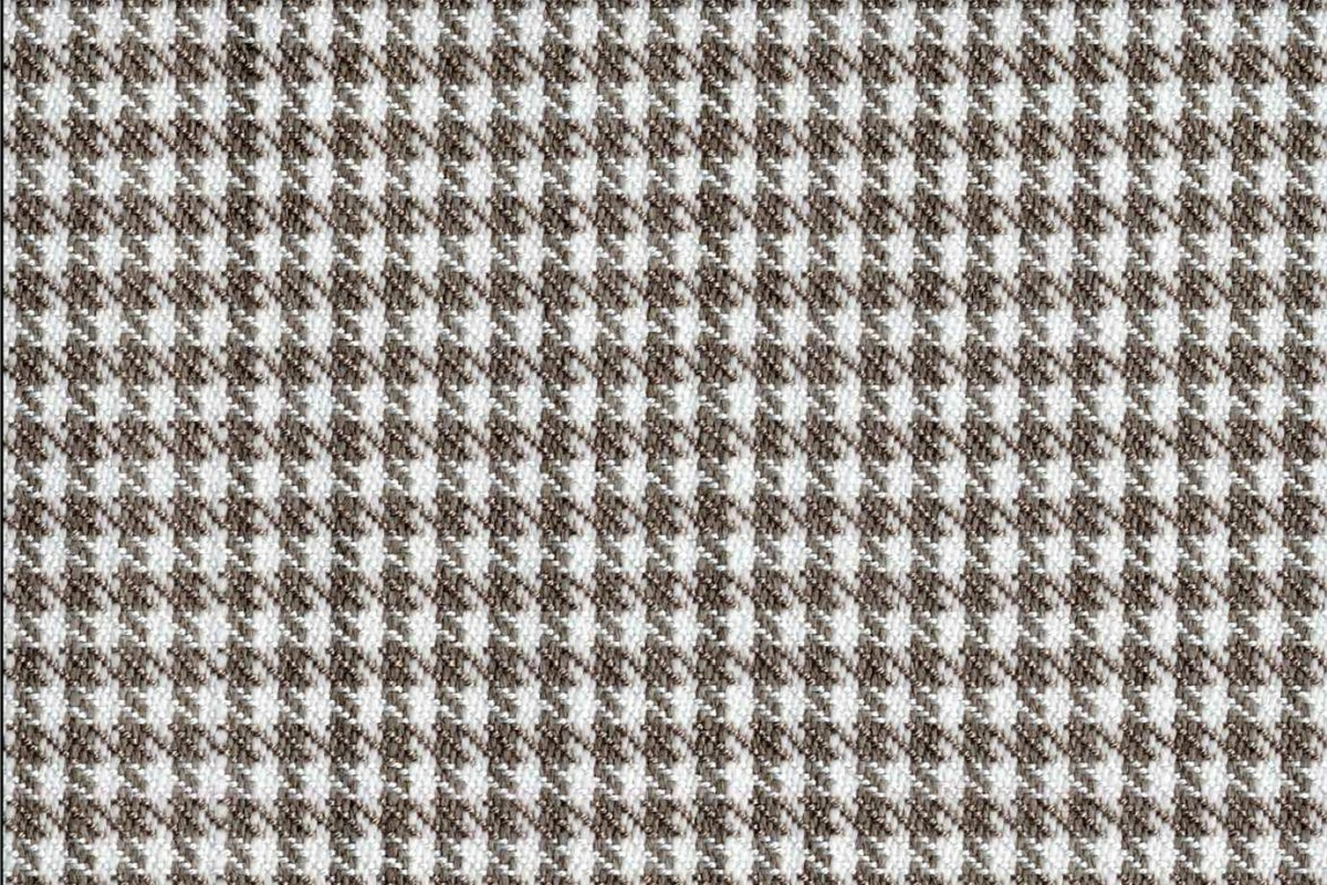 BROCHIER Home decor textile - Interior Design Fabric J2838 PIED DE POULE 003 Bianco tortora