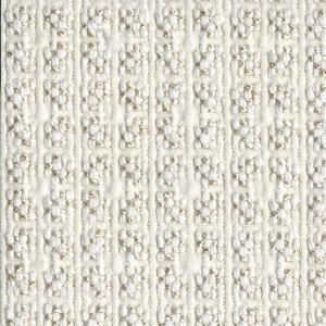 BROCHIER Home decor textile - Interior Design Fabric J2841 CLAUDIA 001 Bianco