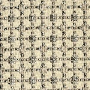 BROCHIER Home decor textile - Interior Design Fabric J2841 CLAUDIA 003 Ecru