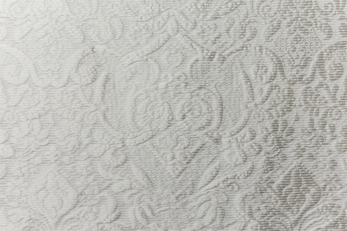 BROCHIER Home decor textile - Interior Design Fabric J2974 AUDREY 001 Bianco