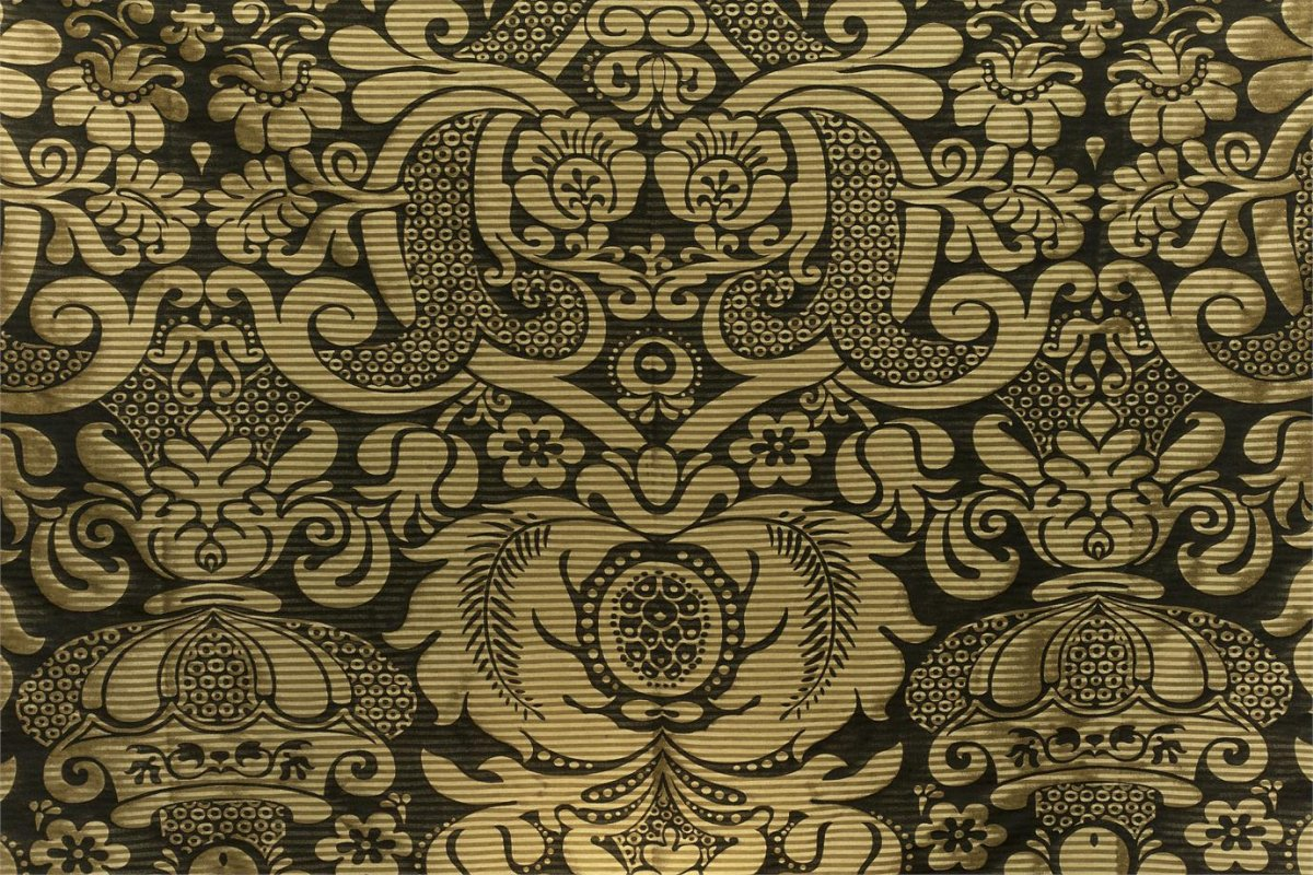 BROCHIER Home decor textile - Interior Design Fabric J2974 AUDREY 002 Nero