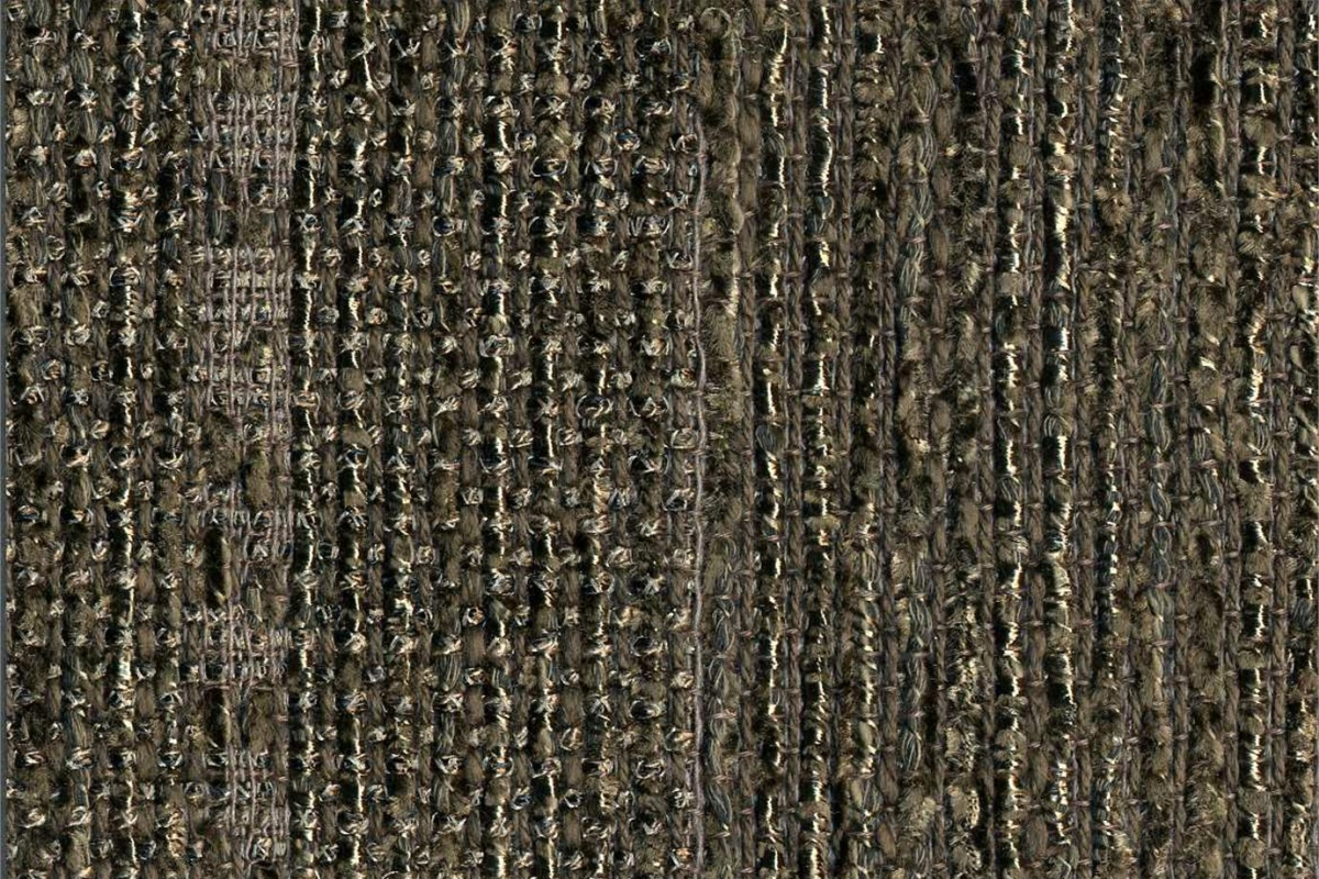 BROCHIER Home decor textile - Interior Design Fabric J2995 LIZ 007 Ebano
