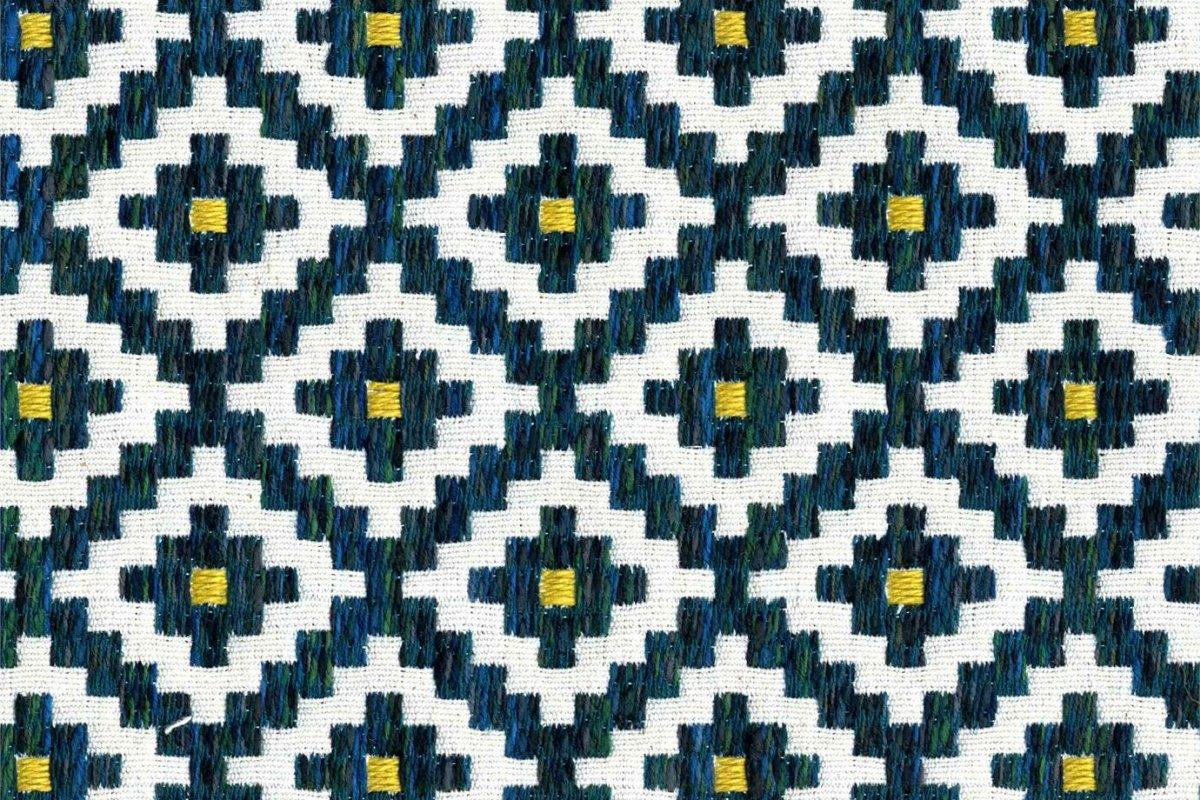 BROCHIER Home decor textile - Interior Design Fabric J3152 CORTE 002 Pavone