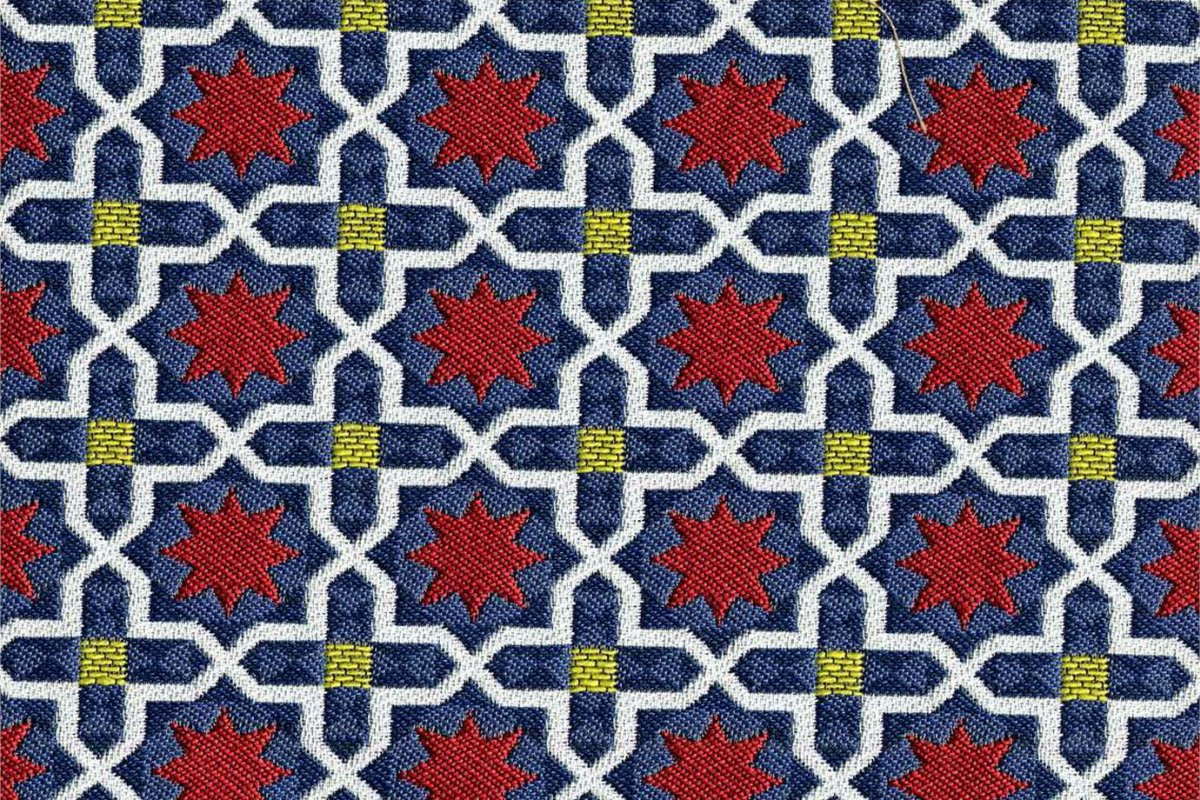 BROCHIER Home decor textile - Interior Design Fabric J3266 ANDROMEDA 004 Blu
