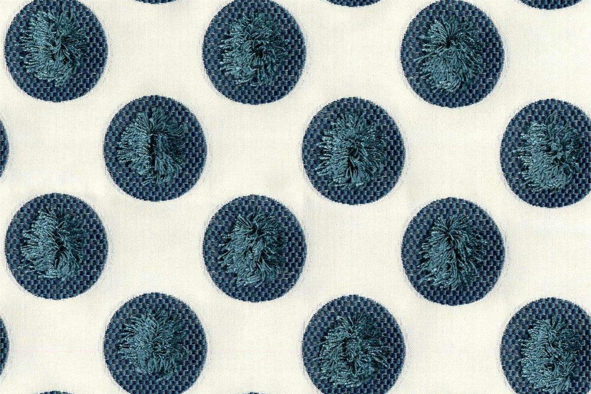 BROCHIER Home decor textile - Interior Design Fabric J3435 PUFFO 004 Pavone