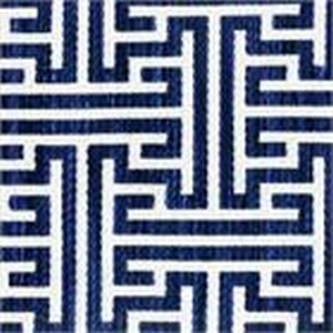BROCHIER - Interior Design Fabric - Home Textile J3441 LABIRINTO 005 Oceano