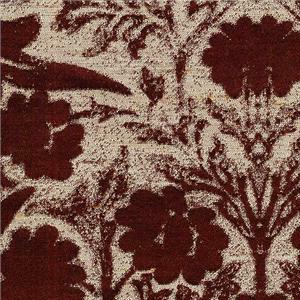 BROCHIER - Interior Design Fabric - Home Textile J3819 VINTAGE 010 Bordeaux