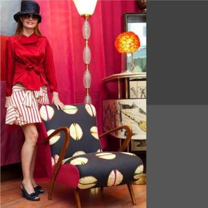 BROCHIER Home decor textile - Interior Design Fabric AK0742 AGRA 002 Cobalto in situation